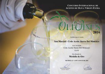 Premio Gold OLIVINUS  2016 - Mendoza (ARGENTINA)
