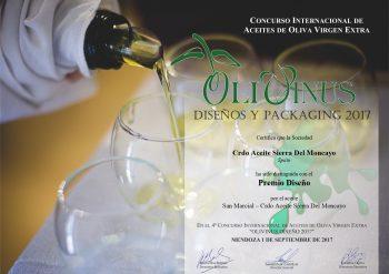 Premio al diseño OLIVINUS 2017 - Mendoza (ARGENTINA)